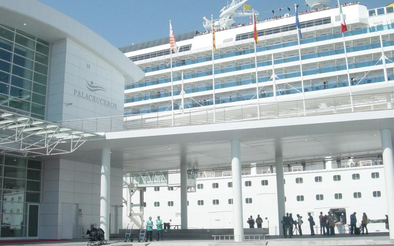 Costa Cruceros terminal in the Barcelona port
